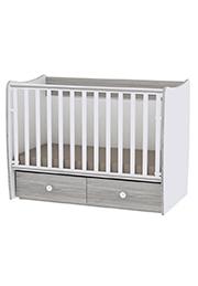 Кроватка детская Lorelli MATRIX White Artwood