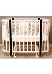 Кроватка детская NELI Ivory+Wenge