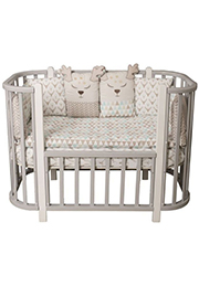 Кроватка деревянная NELI Grey