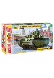Сборная модель - Советский тяжелый танк Т-35 /136671/