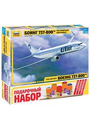 Сборная модель - Пассажирский авиалайнер Боинг 737-800 /170194/