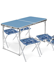 Комплект мебели складной, стол + 4 стула Ника /860001/