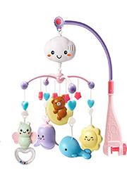 Carusel pentru patuc cu proiector Bear on Moon Pink /012321/