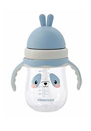 Бутылочка с трубочкой 300 мл, Panda Blue/20874/