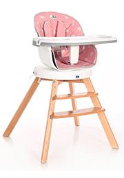 Стульчик для кормления 3-в-1 Lorelli NAPOLI Pink Bears