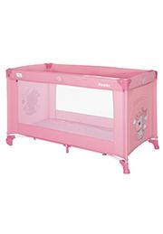 Кровать-манеж Lorelli NOEMI 1 Rose Velvet Unicorn