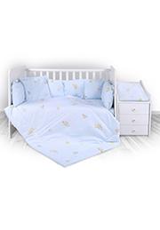Набор постельного белья Lorelli TREND Bear Party Blue /20800053701/