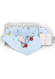 Набор постельного белья Lorelli TREND Bear&Car Blue /20800054601/