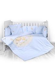 Набор постельного белья 7 эл., Lorelli LILI Bear Party Blue /20800143701/
