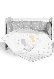 Набор постельного белья 7 эл., Lorelli LILI Grey Elephant Stars /20800144701/