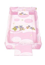 Набор постельного белья Lorelli TREND Hippo Pink /20800051201/
