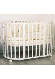 Кроватка-трансформер 7-в-1 MILA White
